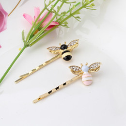 Wholesale Party Wings - Cute Girls Crystal Wings Bees Hair Jewelry Animal Styles Hairpins Hair Clips for Women's Hair Accessories Barrettes