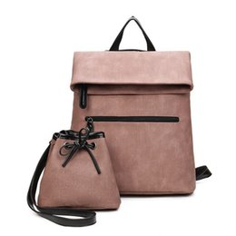 Wholesale Parties For Teenagers - Famous Brand Women Backpack Designer Pu Leather Backpack Famale Travel School Bags For Teenagers Sac a Dos Bag Set Mochila