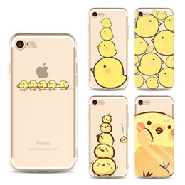 Wholesale Cover Iphone Chick - For iphone 7 case cartoon cute yellow chick TPU painting phone cases ultra thin silicone back protective cover shell for iphone 6S 7 Plus 5S