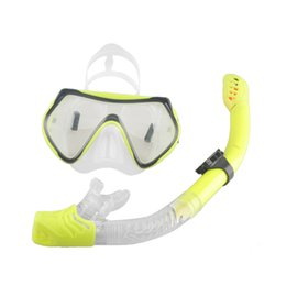 Wholesale Diving Equipment Set - Wholesale- New Scuba Diving Mask Snorkel Anti-Fog Goggles Glasses Set Silicone Swimming Fishing Pool Equipment 6 Color