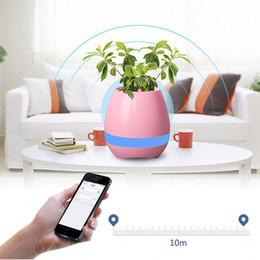 bluetooth lumière intelligente Promotion Meilleure vente Smart Bluetooth Musique Flowerpot Touch Haut-parleur sans fil LED Lumière Coloré Creative Music Playing Flower Pots
