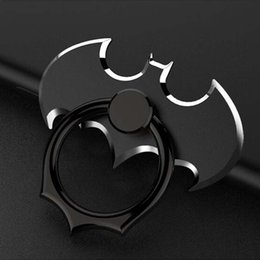 Wholesale Metal Cell Phone Stands - Fashion Universal Mobile Phone Ring 360 Degree Batman Cell Phone Ring Holder Finger Grip Tablet Metal Ring for iPhone7 Car Using Phone Stand