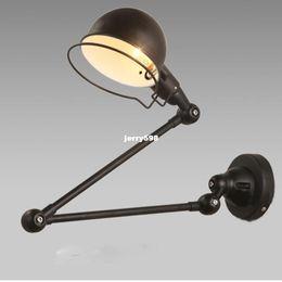 UK led arm sconce - Retro Loft Industrial Vintage Led Wall Lamp light With Long Arm Sconce Indoor Decoration Bar Restaurant Bedroom Art Lamp