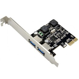 Wholesale Pci Express Port - PCI-Express to 2 Port USB 3.0 Host Controller Card Adapter Hub Super Speed 5Gb s