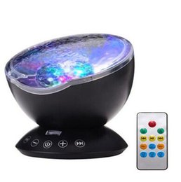Wholesale Wedding Light Projector - 1pcs Ocean Wave Starry Sky LED Night Light Projector Luminaria Novelty Lamp USB Lamp Nightlight Illusion For Baby Children