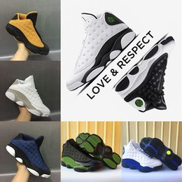 Wholesale Olive Cotton - 2018 Men 13 13s Basketball Shoes New Bordeaux Wheat Altitude Love & Respect Olive Hyper Royal Blue Pure Money Chutney Sport Sneakers US 8-13