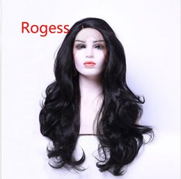 Wholesale Long Layered Brown Wig - Natural Hairline Bouncy Layered Long Dark Brown #2 Bodywave Heat Resistant Synthetic Hair Lace Front Wigs For Women