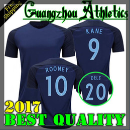 Wholesale England Home Jersey - Top Thai quality 17 18 World Cup soccer Jersey england ROONEY home blue KANE STURRIDGE STERLING HENDERSON VARDY 2018 away football shirt