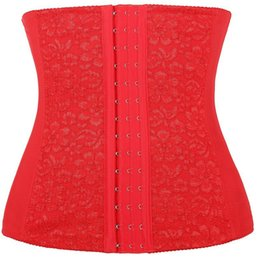 Wholesale Burner Fashion - Plus Size Steel Boned Lace Waist Trainer Corset for Weight Loss Sport Body Shaper 70522 Tummy Fat Burner S-6XL Christmas Gifts for Women