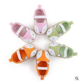 Wholesale First Foxes - Baby shoes baby boys girls cute fox soft toddler shoes fashion newborn kids first walkers children cartoon animal princess footwear T3478