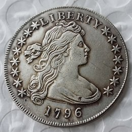 Wholesale America Gift - United States Of America 1796 Liberty Brass Silver Plated Replica Coins cheap factory price