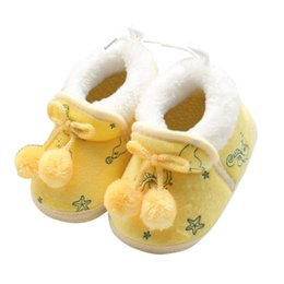 Wholesale Cute Winter Boots For Baby - Wholesale- Cute Winter Baby Boys Girls Cotton Shoes Plush Warm Shoes Boots For 0-18 Months