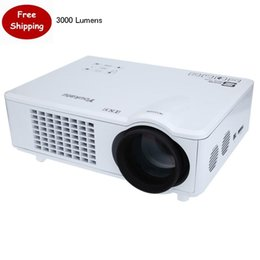 Wholesale Portable Media Speakers - Wholesale-3000 Lumens Youkatu T928 Home Theater Portable Cinema Projector FHD 1080P Projection Smart 1280X768 HiFi speaker Media Player