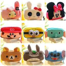 Wholesale Free Personalized Pens - Wholesale-Cartoon Pencil Case Plush Large Capacity Stationery Pen Box Best Personalized Gift For Kids More Kinds Option Free Shipping 0025