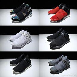 Wholesale Eva Ninja - Y-3 QASA RACER Original Y3 Bandage Running Shoes For Men&Women All Black White Gray Red Fashion Outdoor Ninja Casual Sneakers Jogging Boost