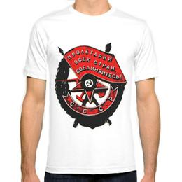 URSS militar símbolo Nova Moda Homem T-Shirt de Algodão O Pescoço Dos Homens de Manga Curta Mens camiseta Masculina Tops Tees Atacado de