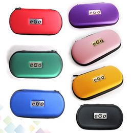 Wholesale Ego T Cigarette Carry Case - Wholesale Ego Case Ego Leather Bag for Ego-t Ego-w Electronic Cigarette Carry Bag with Zipper L M S Size DHL Free