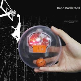 Wholesale Handheld Machine - Magic sports handheld basketball game with LED lights music funny electronic machine palm player novelty fidget spinner toys free ship