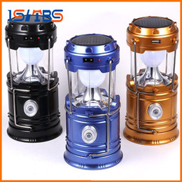 Wholesale Indoor Outdoor Lanterns - New Style Portable Outdoor LED Camping Lantern Solar Collapsible Light Outdoor Camping Hiking Super Bright Light