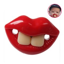 Wholesale Novelty Soother Teeth - Wholesale- Hot Funny Dummy Dummies Pacifier Novelty Teeth Moustache Baby Chile Soother Nipple Baby toys TY