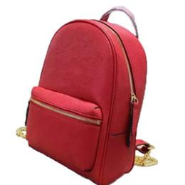 Wholesale Hobo Leather Backpack - Women's Diagonal Leather Bags Classic Real Original Leather Bag Ms Hobo Handbag Backpack Purse Black Red 431570
