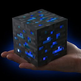 Wholesale Square Games - Minecraft Light Up Popular Game Redstone Ore Square Minecraft Night light LED Minecraft Figure Toys Light Up Diamond Ore