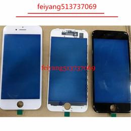 Argentina 10 unids Glass + marco delantero para el iPhone 5 5c 5s 6 6 s más 7/7 más vidrio exterior con marco de bisel lcd pieza de reparación Suministro