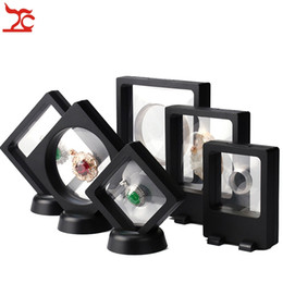 Wholesale Jewelry Ring Stand Clear - 6 Pcs PET Membrane Jewelry Display Stand Black Earring Bracelet Necklace Ring Organizer Clear Accessories Display Box