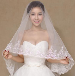 Wholesale Korean Wedding Models - 2017 new hot explosion models selling new white lace wedding bride veil long Korean Princess Wedding short
