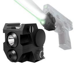 Wholesale Tactical Laser Sight Led Light - Mini Tactical Pistol Laser Sub Compact Laser Sight with Rail Mount High Lumen CREE LED Flashlight Light Integrated Combo with Strobe
