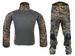 Wholesale Woodland Hunting Clothing - Brand New G2 Tactical Men Uniform Clothes Airsoft Hunting Uniform Combat Shirt&Pants Knee Elbow Pad Digital Woodland