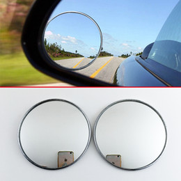 E-db Blind Spot Mirrors,Round Frameless Wide 360/° Rotate Adjustable HD Glass Convex Durable Side Mirror Blind Spot for All Car SUV Trucks Motorcycle