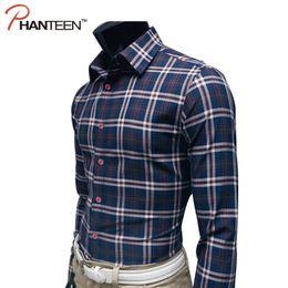 Wholesale Men High Fashion Dress Clothes - Wholesale- Classic Plaid High Quality Man Shirts Business Casual Slim Fitness Dress Shirts Long Sleeve Comfortable Fashion Men Clothing