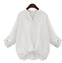 Wholesale Puff Sleeve Sweater White - Spring shirt women long sleeves ladies Korean Slim large size sweater in the long section of the professional rendering Chiffon shirt