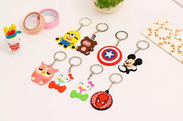 Wholesale Heart Watch Key - Explosive three - dimensional key ring cute creative spout key ring silicone pendant key ring KR040 Keychains mix order 20 pieces a lot