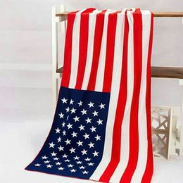 Wholesale Wholesale Throw Blankets Uk - 100% COTTON US UK Flag Pattern Round Beach Towel 140cm Wall Hanging Beach Towel blanket Swimwear Shower Throw Yoga Mat
