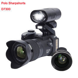 Wholesale Led Cmos Camera - 2017 PROTAX D7300 digital cameras 33MP Professional DSLR cameras 24X Optical Zoom Telephotos& 8X Wide Angle Lens LED Spotlight Tripod