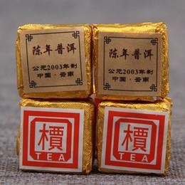 mini yunnan puer tè Sconti Fai promozione! 30 particelle Yunnan Puer tè cucinato tea tree collection 2003 Mini Too small Brick. Consegna gratuita
