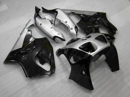 Wholesale 1997 Zx7r Body - Full Body Kits Zx7r 98 99 ABS Fairing Zx 7r 1999 Silvery Black Bodywork Zx-7r 2000 1996 - 2003