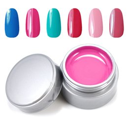 Wholesale Nail Gel Solid Color - Wholesale- Candy Lover UV gel color set 6pcs lot Mix color Solid pure uv builder gel polish for Nail art Professional  DIY Manicure