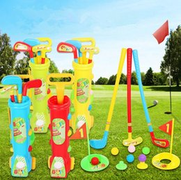 Wholesale Golf Set Toys - Kids Golf Play Set Toddler Baby Plastic Toy Outdoor Golfball Fitness Competitive Interactive Sports Toys OOA2362