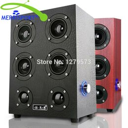 Wholesale Music Home Theater - Wholesale- MERRISPORT Floorstanding Speakers HiFi Music Speakers for Desktop PC Computer Notebook Tablet Home Theater TV HTC Music Systems