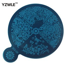 Wholesale Stamping Plates Series - Wholesale- 1 Sheet SG Series Stamping Nail Art Image Plate, 9*11.4cm Stainless Steel Template Polish Manicure Stencil Tools (SG-08)