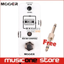Wholesale Mooer Guitar - Wholesale- Mooer Micro Looper Recording Effect guitar Pedal Support to 30 Minutes Recording controlled by one single footswitch True Bypass