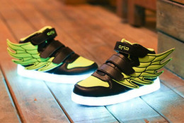 Wholesale Patent Lighter - 2017 Winter Boy And Girls Fashion Led Lighter Shoes Children Casual Shoe Muti Color Size 25-37 Charge by Battery Drop Shipping