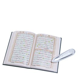 Wholesale Digital Quran Reader - Wholesale-hot selling Nice leather bag mulim digital Quran read pen quran reading pen quran pen reader word by word functio free shipping