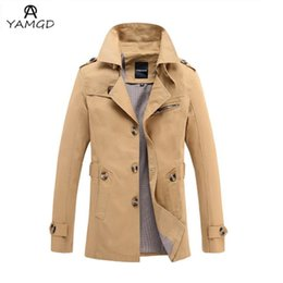 Wholesale Trench Coat For Big Men - Wholesale- 2016 men slim single breasted trench coat Men Big Size Long Coat Solid Long Trench Coats For Men Oversize Overcoat S-4XL 5XL