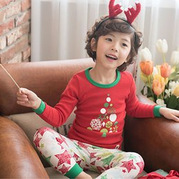 Wholesale Sleeves Spider - 2017 Baby Boys Girls Christmas Pajamas Homewear Kids Long Sleeve Spider Man Xmas PJS Cotton Pajamas Children Autumn Clothing Set A7825