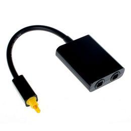 Dvd 18 онлайн-Цифровой Toslink оптическое волокно аудио кабель 1 мужчин и 2 женщин Toslink Splitter адаптер 18 см черный белый для CD DVD-плеер