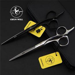 Robes de cisaillement en Ligne-Vente en gros - 5 ou 6 ou 6,5 po. Ciseaux de coiffure professionnels de haute qualité, ciseaux de coiffeur ciseaux à coupe plate